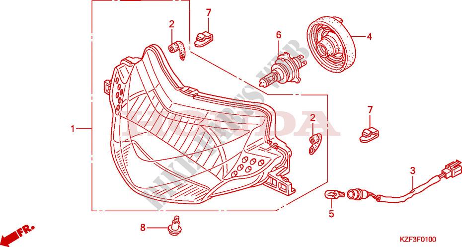 Headlight For Honda Innova 125 2012   Honda Motorcycles