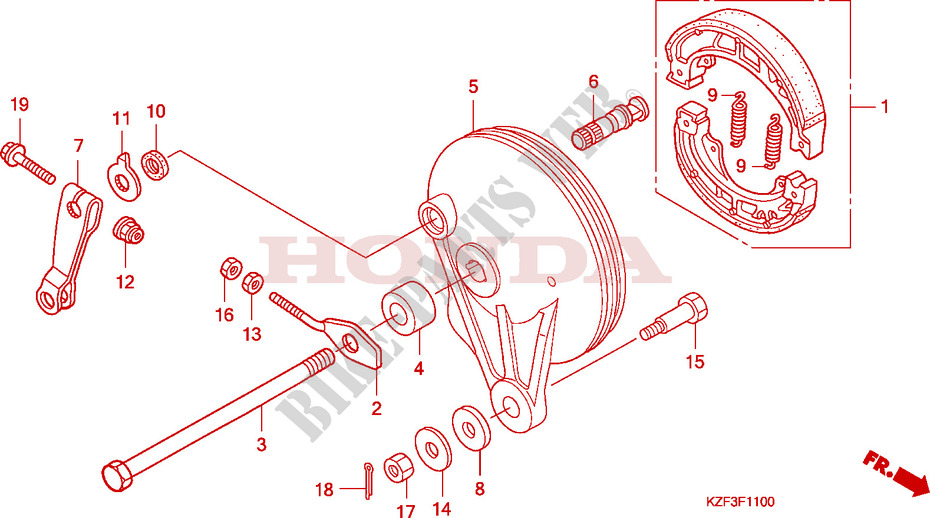Rear Brake Panel Shoes For Honda Innova 125 2012   Honda