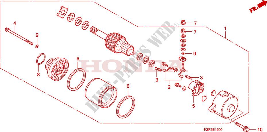 Starter Motor For Honda Innova 125 2010   Honda