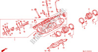 RIGHT CYLINDER HEAD Honda motorcycle microfiche diagram ST1100S 1995 PAN EUROPEAN ST 1100