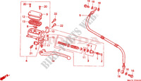 CLUTCH MASTER CYLINDER Honda motorcycle microfiche diagram ST1100S 1995 PAN EUROPEAN ST 1100