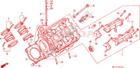 LEFT CYLINDER HEAD Engine 1100 honda-motorcycle PAN-EUROPEAN 1995 E__0301