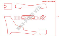 SCUFF PAD SET Accessories 1100 honda-motorcycle PAN-EUROPEAN 1998 08P6103