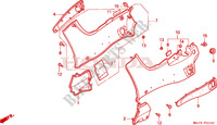 SIDE COVER Frame 1100 honda-motorcycle PAN-EUROPEAN 1998 F__2100