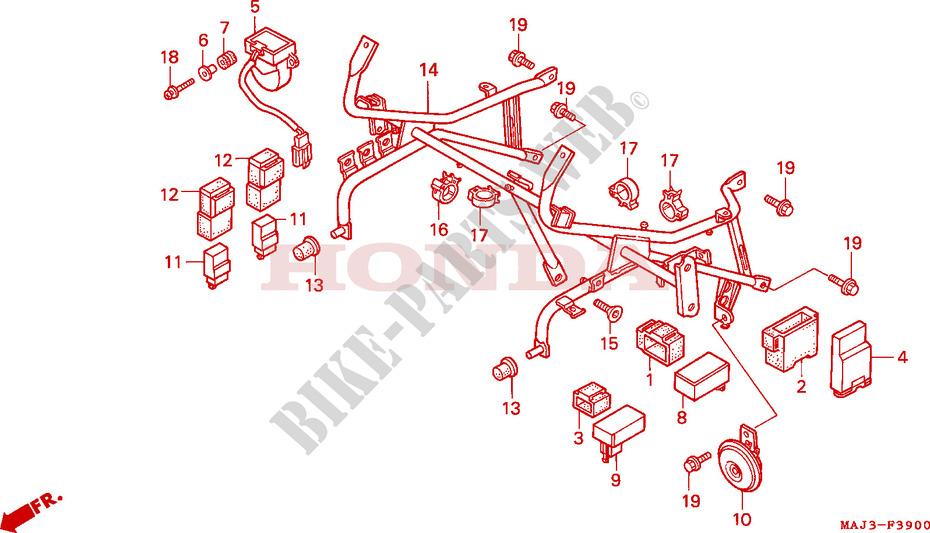 cowl stay st1100 frame st1100t 1996 pan european 1100 moto hondahonda moto 1100 pan european 1996 st1100t frame cowl stay (st1100)