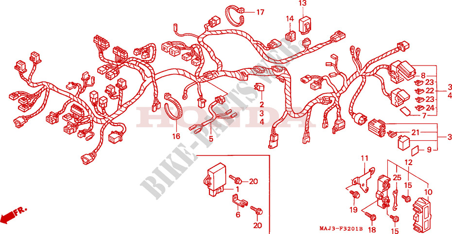 Honda MOTO 1100 PAN-EUROPEAN 1995  ST1100AS Frame WIRE HARNESS (ST1100A)