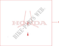 SIDE DEFLEC KIT Honda motorcycle microfiche diagram ST1100AX 1999 PAN EUROPEAN ST 1100 ABS