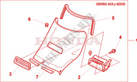 WIND SHIELD KIT Honda motorcycle microfiche diagram ST1100AX 1999 PAN EUROPEAN ST 1100 ABS