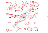 GRIP HEATER ST1100 Honda motorcycle microfiche diagram ST1100AX 1999 PAN EUROPEAN ST 1100 ABS