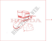 TANKBAG Honda motorcycle microfiche diagram ST1100AX 1999 PAN EUROPEAN ST 1100 ABS