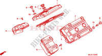 CYLINDER HEAD COVER Honda motorcycle microfiche diagram ST1100AX 1999 PAN EUROPEAN ST 1100 ABS