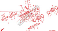 RIGHT CYLINDER HEAD Honda motorcycle microfiche diagram ST1100AX 1999 PAN EUROPEAN ST 1100 ABS