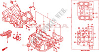 CRANKCASE Honda motorcycle microfiche diagram ST1100AX 1999 PAN EUROPEAN ST 1100 ABS 50TH