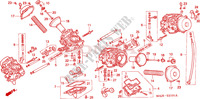 CARBURETOR (COMPONENT PARTS) Honda motorcycle microfiche diagram ST1100AX 1999 PAN EUROPEAN ST 1100 ABS
