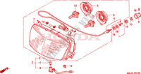 HEADLIGHT Honda motorcycle microfiche diagram ST1100AX 1999 PAN EUROPEAN ST 1100 ABS