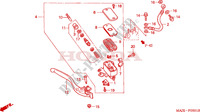 FR. BRAKE MASTER CYLINDER (ST1100A) Honda motorcycle microfiche diagram ST1100AX 1999 PAN EUROPEAN ST 1100 ABS 50TH