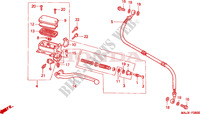 CLUTCH MASTER CYLINDER Honda motorcycle microfiche diagram ST1100AX 1999 PAN EUROPEAN ST 1100 ABS 50TH