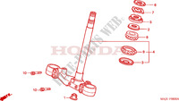 STEERING STEM Honda motorcycle microfiche diagram ST1100AX 1999 PAN EUROPEAN ST 1100 ABS