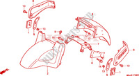 FRONT FENDER (ST1100A) Honda motorcycle microfiche diagram ST1100AX 1999 PAN EUROPEAN ST 1100 ABS 50TH