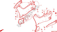 SIDE COVER Honda motorcycle microfiche diagram ST1100AX 1999 PAN EUROPEAN ST 1100 ABS