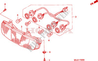 REAR COMBINATION LIGHT Honda motorcycle microfiche diagram ST1100AX 1999 PAN EUROPEAN ST 1100 ABS