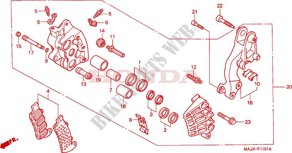 Brake Caliper Rear  Boot Seal Honda ST 1100 AX Pan European    1999 1100 CC