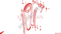 CAM CHAIN/TENSIONER Engine 650 honda-motorcycle FX 2000 E__0400