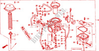 CARBURETOR Engine 650 honda-motorcycle FX 2000 E__1900