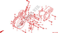 LEFT CRANKCASE COVER Engine 650 honda-motorcycle FX 2000 E__0900