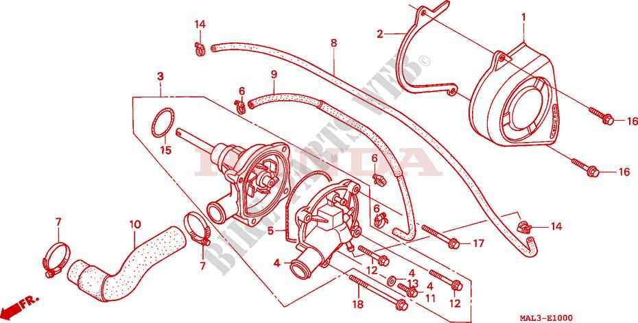 Water Pump For Honda Cbr 600 F3 1997   Honda Motorcycles