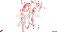 CAM CHAIN/TENSIONER Engine 650 honda-motorcycle NX 1995 E__0400