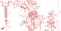 CARBURETOR Engine 650 honda-motorcycle NX 1995 E__1900