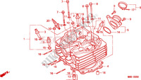CYLINDER HEAD Engine 650 honda-motorcycle NX 1995 E__0200