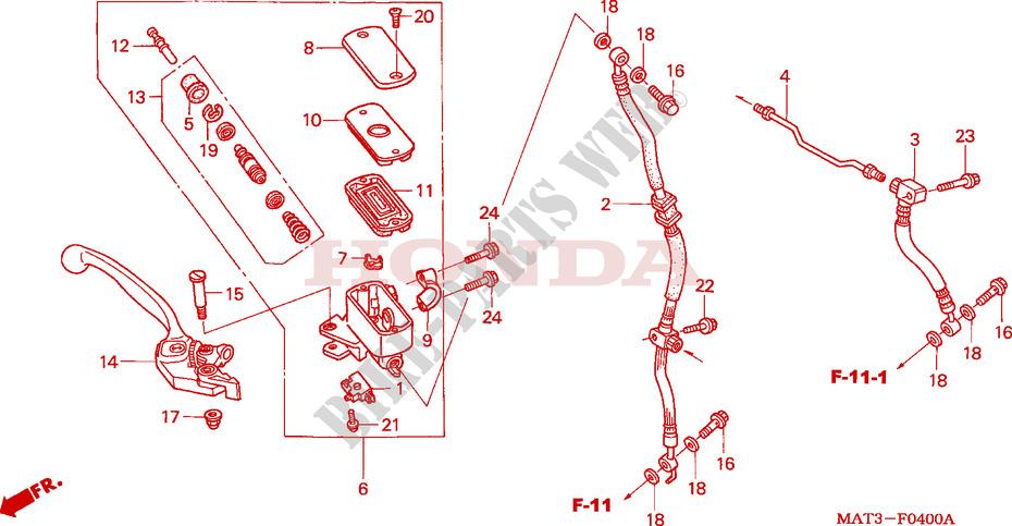 Honda CBR 1100 XX-3 2003 1100  CC Brake Master Cylinder Repair Kit Front