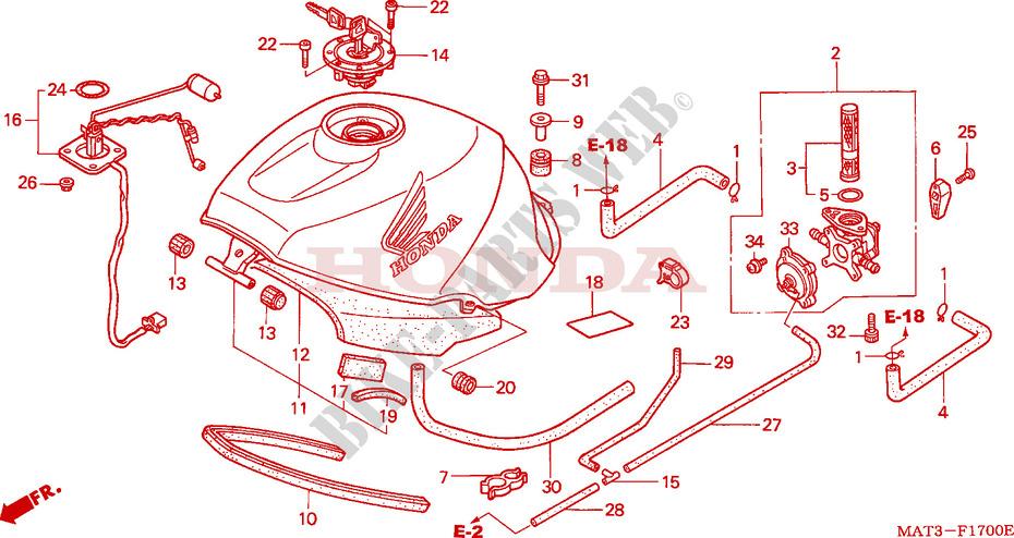 Fuel Tank V W Frame Cbr1100xxw 1998 Cbr 1100 Moto Honda
