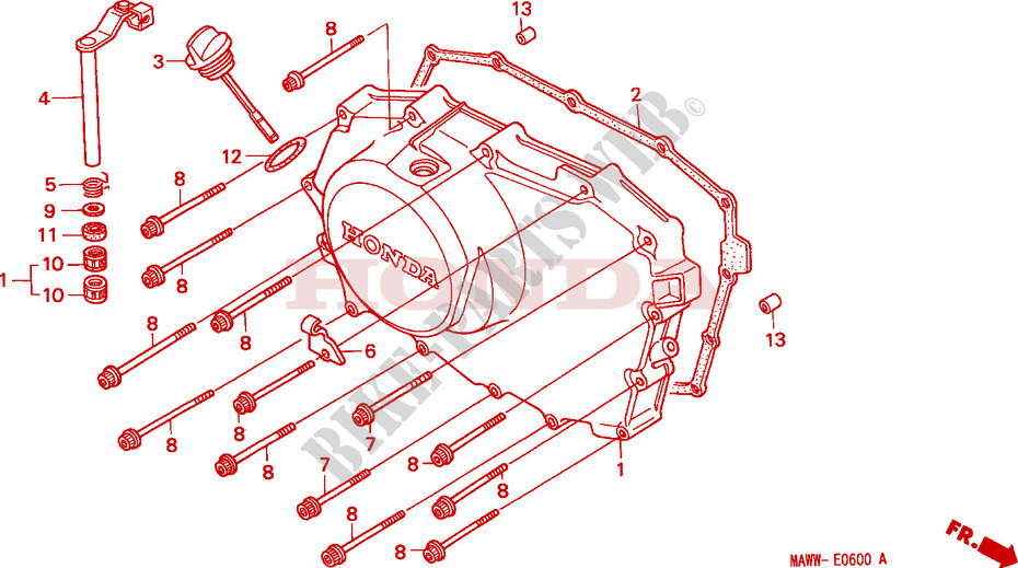 Right Crankcase Cover For Honda Transalp 600 1999   Honda