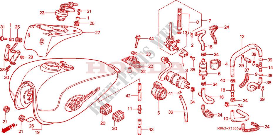 fuel tank fuel pump frame vt750c2w 1998 vt 750 moto honda motorcycle rh bike parts honda com Fuel Pump Installation Fuel Pump Replacement