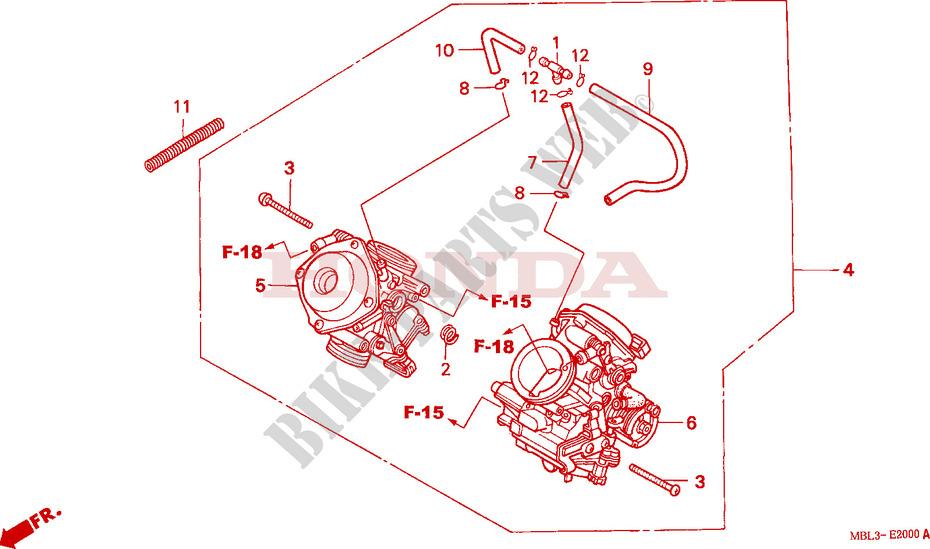 Carburetor  Assy   For Honda Deauville 650 2004   Honda Motorcycles  U0026 Atvs Genuine Spare Parts