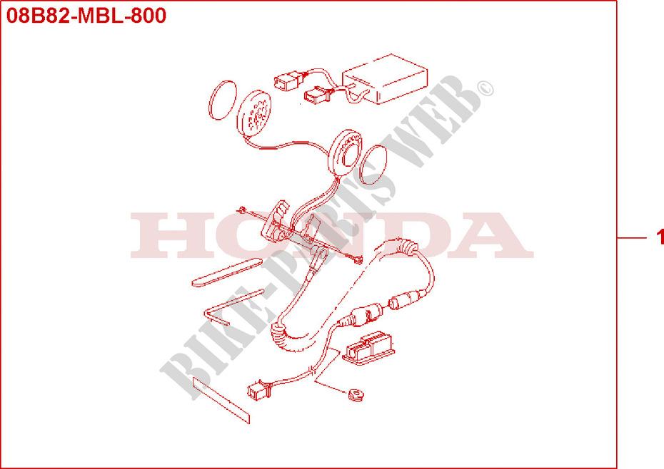 Headset Kit Honda Moto Deauville Nt Vw B