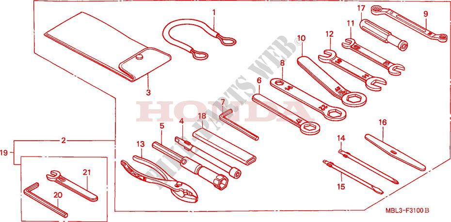 Tool For Honda Deauville 650 2005   Honda Motorcycles  U0026 Atvs Genuine Spare Parts Catalog