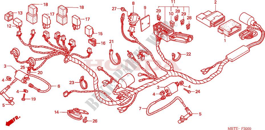 Wire Harness For Honda Xl 1000 Varadero 2002   Honda