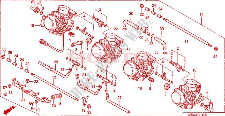 Carburetor  Assy   For Honda Cbr 600 F4 1999   Honda