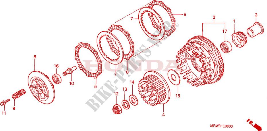 Fits Honda CBR 600 F-X 1999 0600 CC Front Master Cylinder Kit