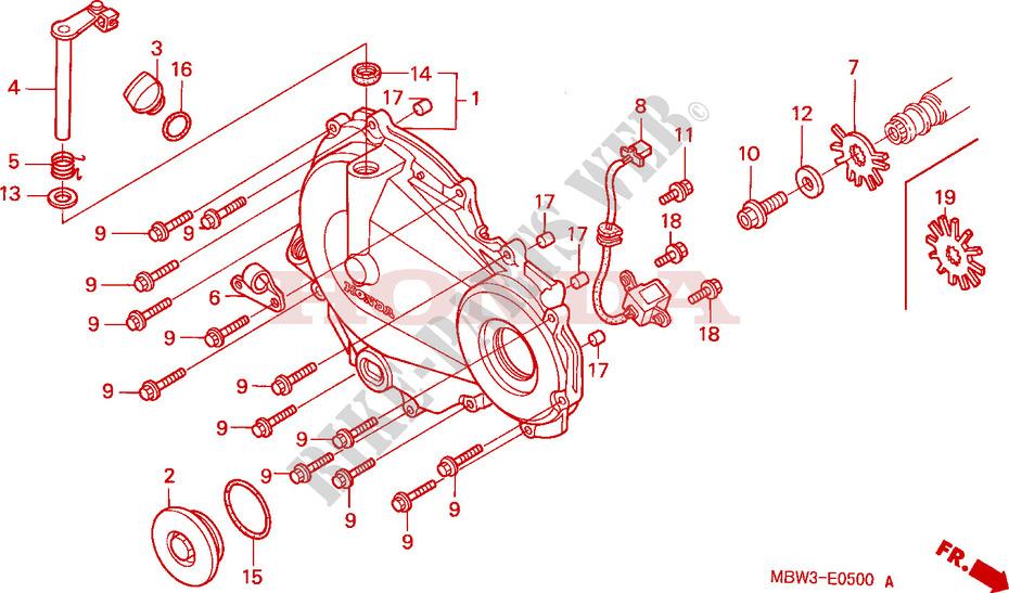 Right Crankcase Cover For Honda Cbr 600 F4 2000   Honda