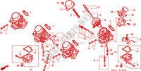 CARBURETOR (COMPONENT PARTS) (2) for Honda CB 600 F HORNET 2003