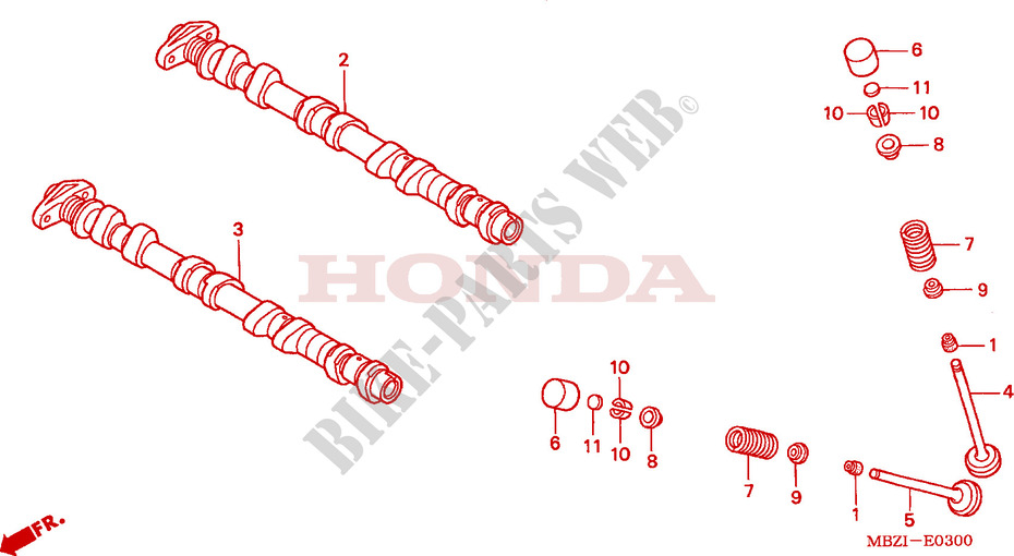 CAMSHAFT for Honda CB 600 F HORNET 34HP 2004