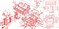 CRANKCASE for Honda CB 600 S HORNET 34HP 2000