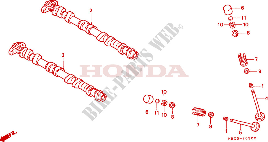 CAMSHAFT for Honda CB 600 S HORNET 34HP 2001