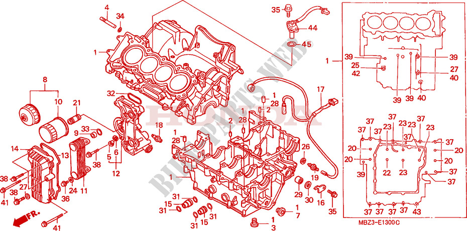 CRANKCASE for Honda CB 600 F HORNET 34HP 2001