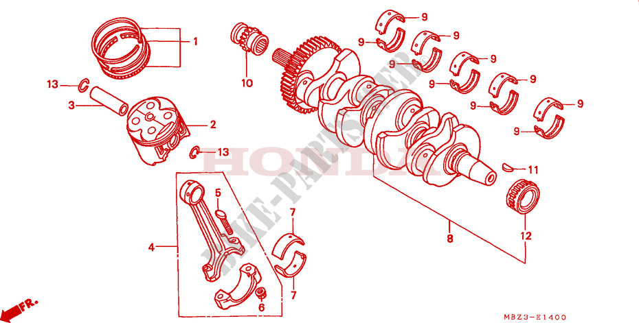 CRANKSHAFT for Honda CB 600 S HORNET 2001